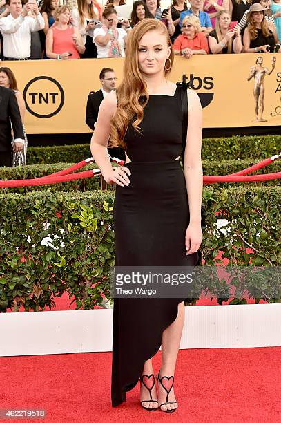 Actress Sophie Turner attends TNT's 21st Annual Screen Actors Guild Awards at The Shrine Auditorium on January 25 2015 in Los Angeles California...