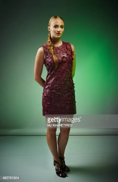 Actress Sophie Turner poses for a portrait at the Getty Images Portrait Studio powered by Samsung Galaxy at ComicCon International 2014 at Hard Rock...