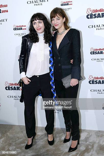 Actress Sophie Verbeek dressed in Chanel nominated for 'A trois on y va' and her sponsor Celine Sallette dressed in Chanel attend the 'Cesar...