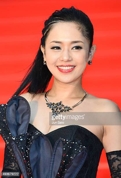 Actress Sora Aoi attends the opening ceremony of the Tokyo International Film Festival 2015 at Roppongi Hills on October 22 2015 in Tokyo Japan