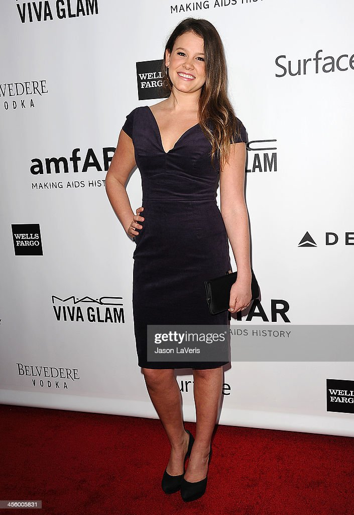 Actress Sosie Bacon attends the amfAR Inspiration Gala at Milk Studios on December 12, 2013 in Hollywood, California.