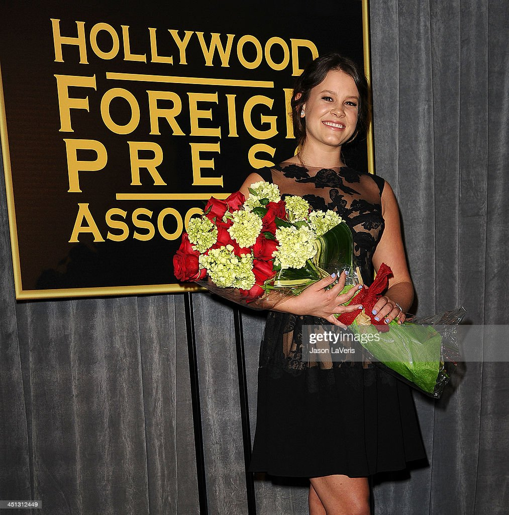Actress <a gi-track='captionPersonalityLinkClicked' href=/galleries/search?phrase=Sosie+Bacon&family=editorial&specificpeople=577554 ng-click='$event.stopPropagation()'>Sosie Bacon</a> attends the Miss Golden Globe event at Fig & Olive Melrose Place on November 21, 2013 in West Hollywood, California.