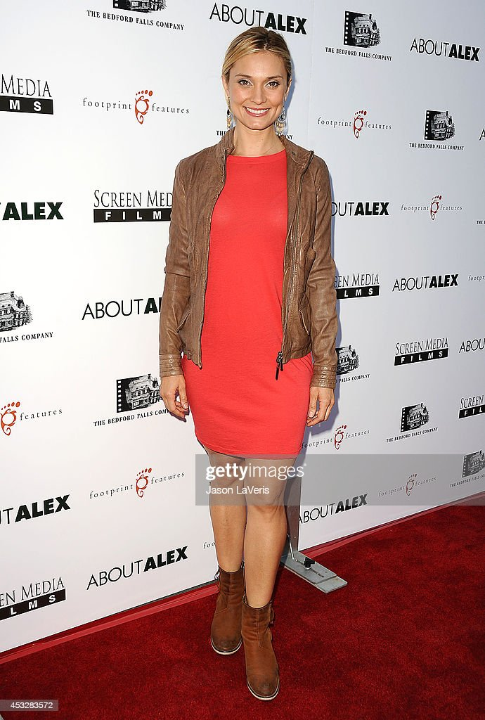 Actress <a gi-track='captionPersonalityLinkClicked' href=/galleries/search?phrase=Spencer+Grammer&family=editorial&specificpeople=3214329 ng-click='$event.stopPropagation()'>Spencer Grammer</a> attends the premiere of 'About Alex' at ArcLight Hollywood on August 6, 2014 in Hollywood, California.