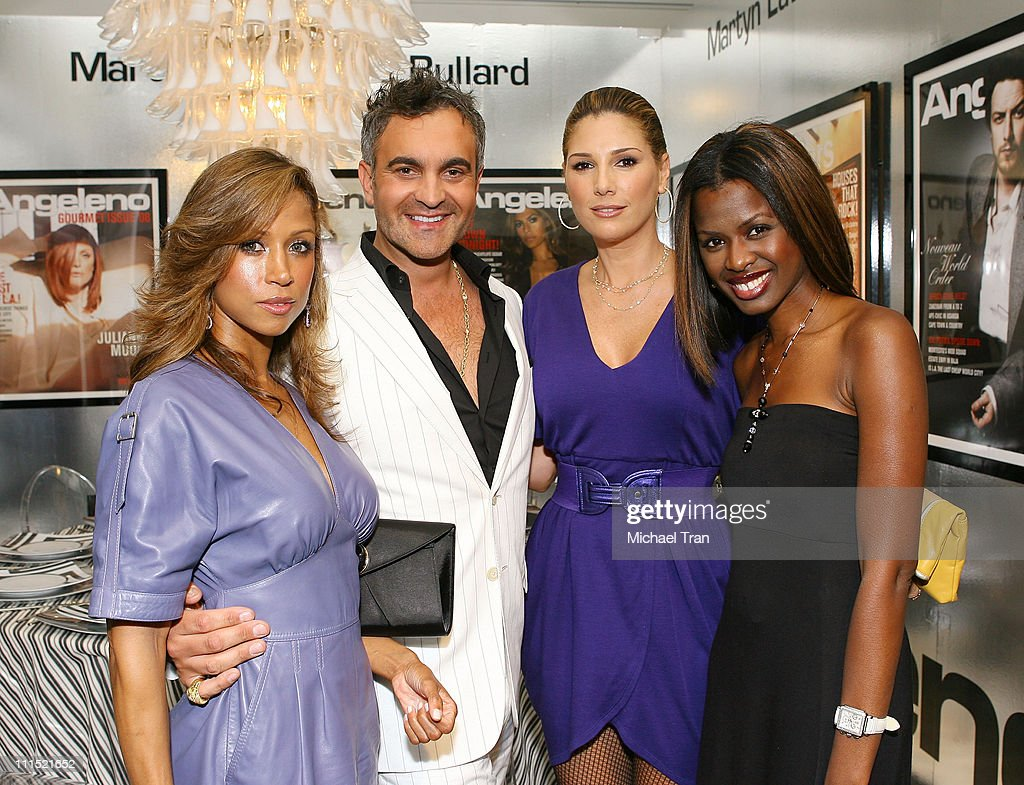 Actress Stacey Dash, Interior designer Martyn Lawrence-Bullard, Actress Daisy Fuentes and June Sarpong attend the DIFFA's 'Dining By Design' Gala dinner held at the L.A. Mart on September 15, 2008 in Los Angeles, California.
