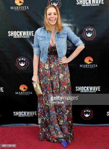Actress Stacey Oristano attends the premiere of MarVista Entertainment's 'Shockwave' at Laemmle's Music Hall 3 on May 11 2017 in Beverly Hills...
