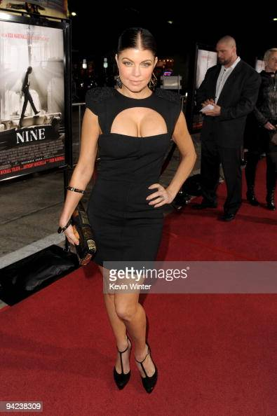 Actress Stacy 'Fergie' Ferguson arrives at the Los Angeles premiere of the Weinstein Company's 'NINE' at the Mann Village Theatre on December 9 2009...