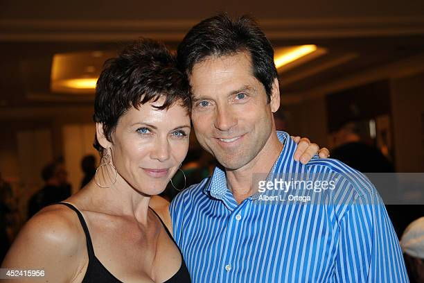 Actress Stacy Haiduk and actor Gerard Christopher at the The Hollywood Show held at Westin Los Angeles Airport on July 19 2014 in Los Angeles...