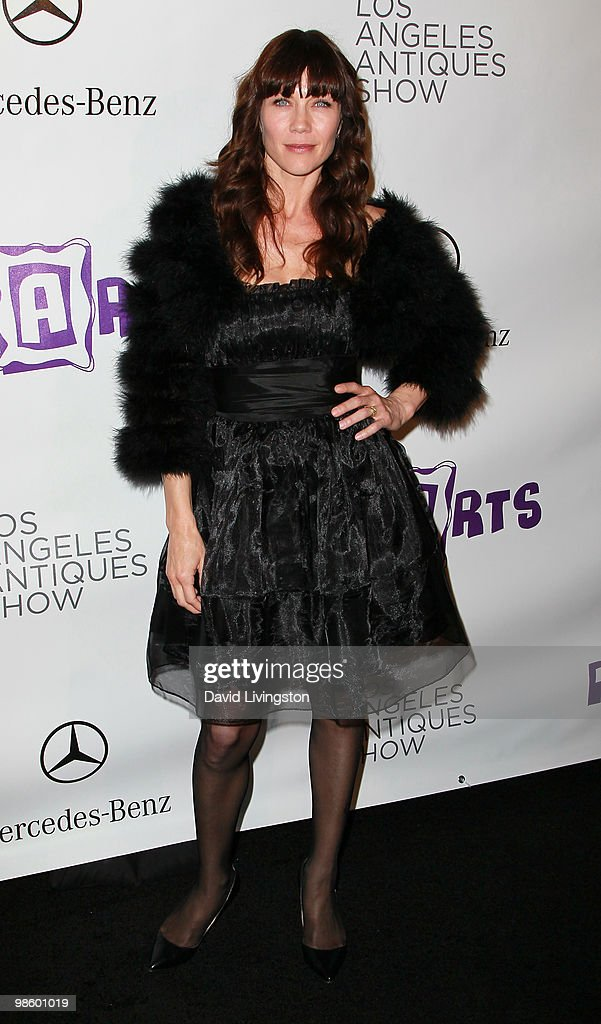 Actress Stacy Haiduk attends the 15th Annual Los Angeles Antique Show Opening Night Preview Party benefiting P.S. ARTS at Barker Hanger on April 21, 2010 in Santa Monica, California.