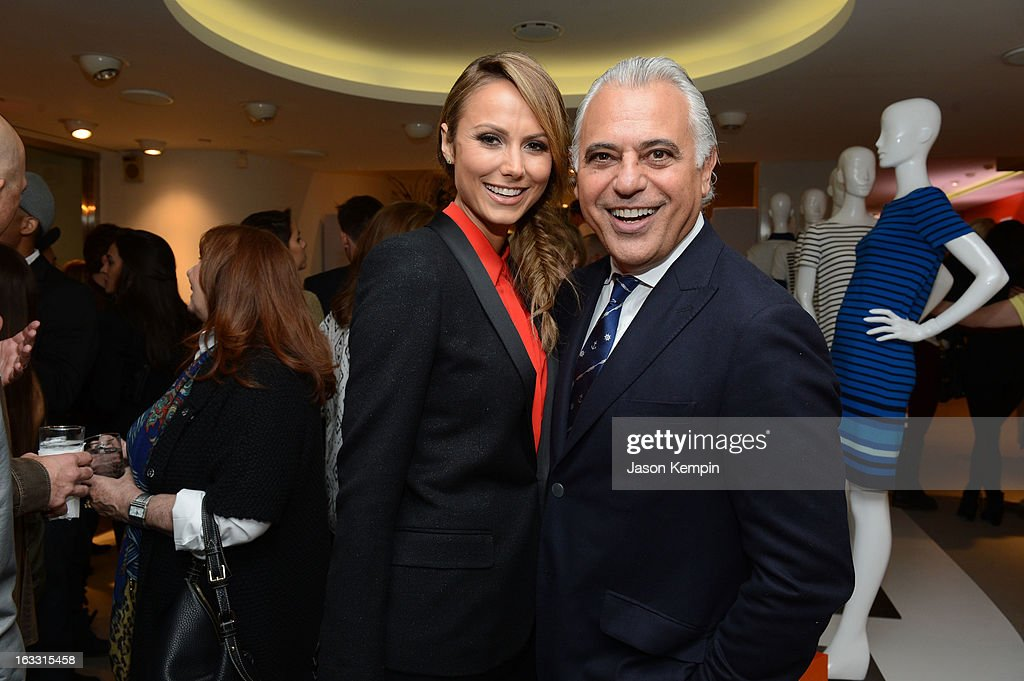 Actress Stacy Keibler and Joe Fresh Creative Director Joe Mimran attend Joe Fresh at jcp launch event on March 7, 2013 in Beverly Hills, California.
