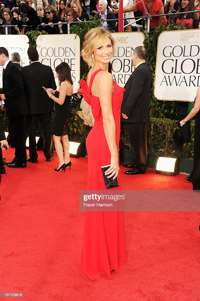 Actress Stacy Keibler arrives at the 69th Annual Golden Globe Awards held at the Beverly Hilton Hotel on January 15 2012 in Beverly Hills California