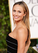 Actress Stacy Keibler arrives at the 70th Annual Golden Globe Awards held at The Beverly Hilton Hotel on January 13 2013 in Beverly Hills California