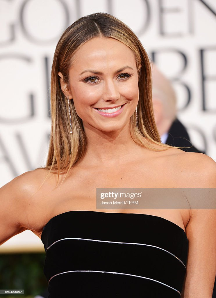 Actress Stacy Keibler arrives at the 70th Annual Golden Globe Awards held at The Beverly Hilton Hotel on January 13, 2013 in Beverly Hills, California.