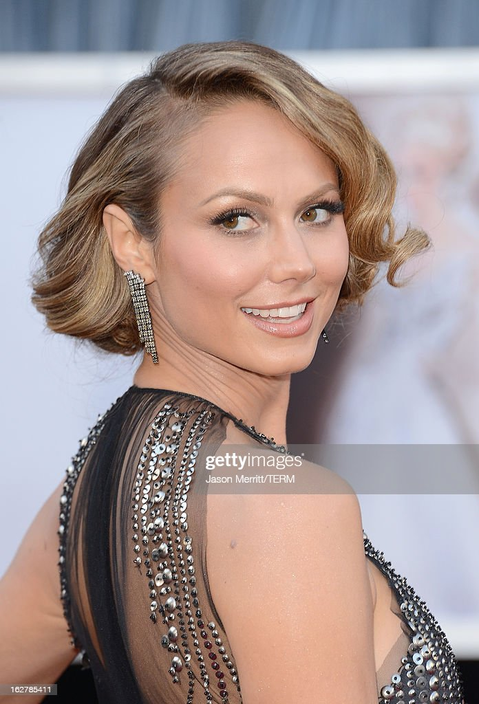 Actress Stacy Keibler arrives at the Oscars at Hollywood & Highland Center on February 24, 2013 in Hollywood, California.