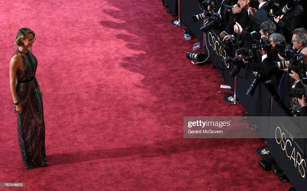 Actress <a gi-track='captionPersonalityLinkClicked' href=/galleries/search?phrase=Stacy+Keibler&family=editorial&specificpeople=3031844 ng-click='$event.stopPropagation()'>Stacy Keibler</a> arrives at the Oscars held at Hollywood & Highland Center on February 24, 2013 in Hollywood, California.