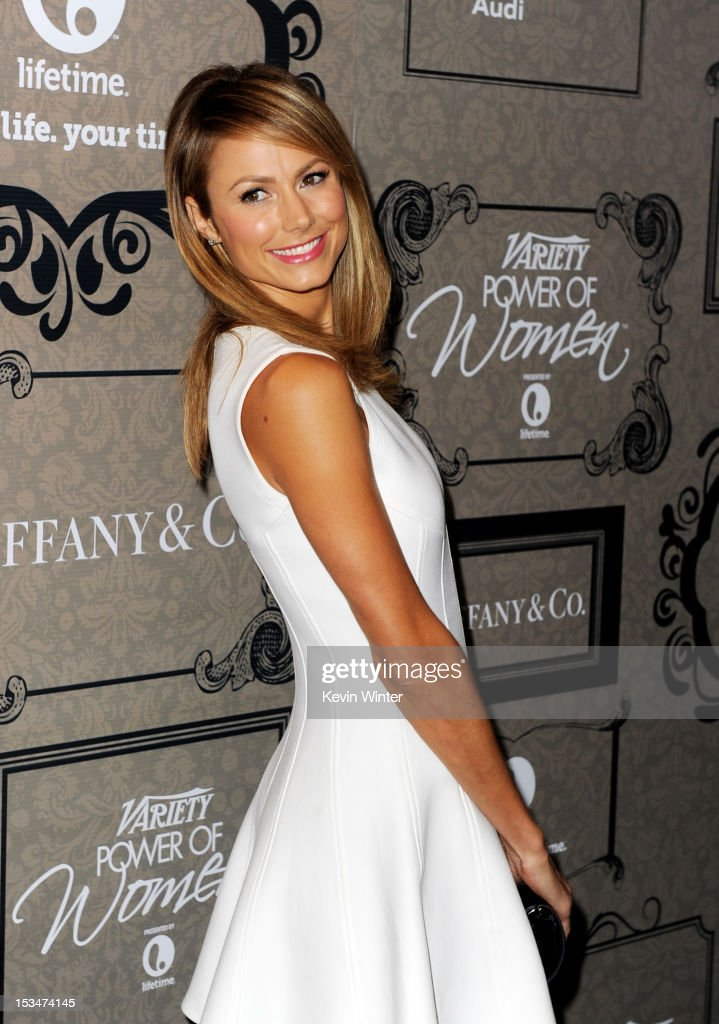 Actress <a gi-track='captionPersonalityLinkClicked' href=/galleries/search?phrase=Stacy+Keibler&family=editorial&specificpeople=3031844 ng-click='$event.stopPropagation()'>Stacy Keibler</a> arrives at Variety's Power of Women presented by Lifetime at the Beverly Wilshire Hotel on October 5, 2012 in Beverly Hills, California.
