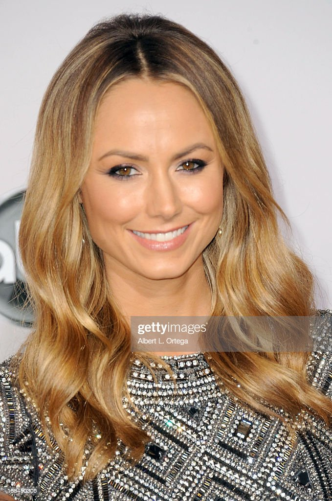 Actress Stacy Keibler arrives for the 40th Anniversary American Music Awards - Arrivals held at Nokia Theater L.A. Live on November 18, 2012 in Los Angeles, California.