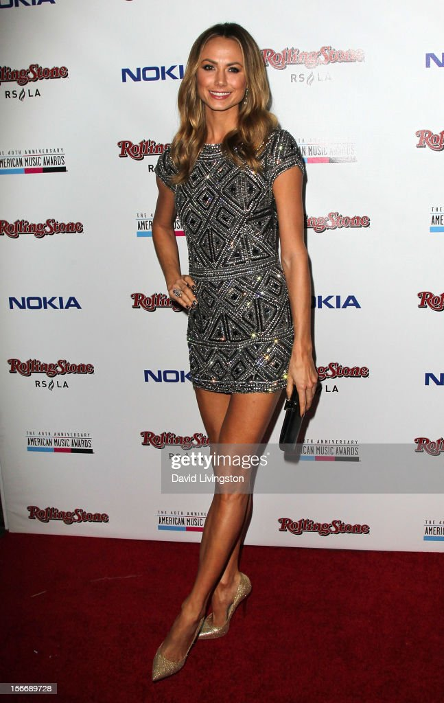 Actress Stacy Keibler attends Rolling Stone Magazine's 2012 American Music Awards (AMAs) VIP After Party presented by Nokia and Rdio at the Rolling Stone Restaurant and Lounge on November 18, 2012 in Los Angeles, California.
