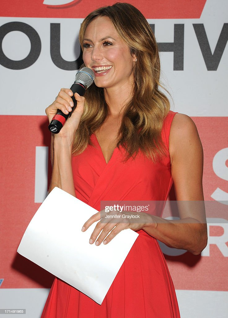 Actress <a gi-track='captionPersonalityLinkClicked' href=/galleries/search?phrase=Stacy+Keibler&family=editorial&specificpeople=3031844 ng-click='$event.stopPropagation()'>Stacy Keibler</a> attends the 2013 A Wish for a Swish benefit in Times Square on June 25, 2013 in New York City.