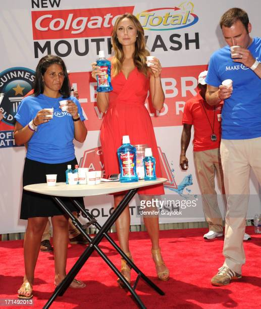 Actress Stacy Keibler attends the 2013 A Wish for a Swish benefit in Times Square on June 25 2013 in New York City