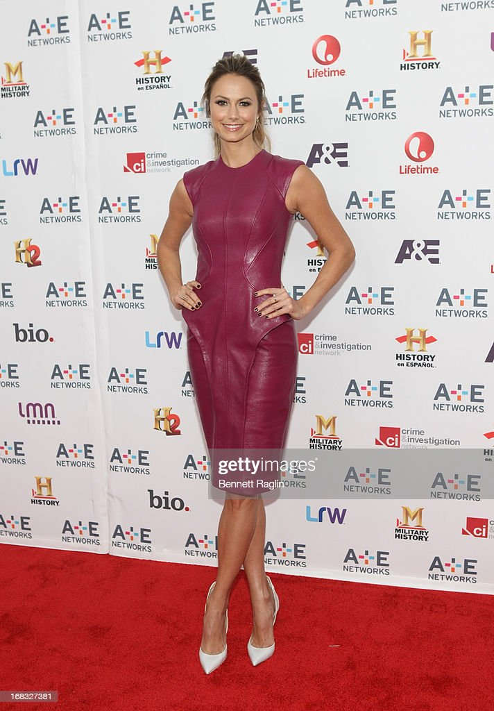 Actress <a gi-track='captionPersonalityLinkClicked' href=/galleries/search?phrase=Stacy+Keibler&family=editorial&specificpeople=3031844 ng-click='$event.stopPropagation()'>Stacy Keibler</a> attends the 2013 A+E Networks Upfront at Lincoln Center on May 8, 2013 in New York City.