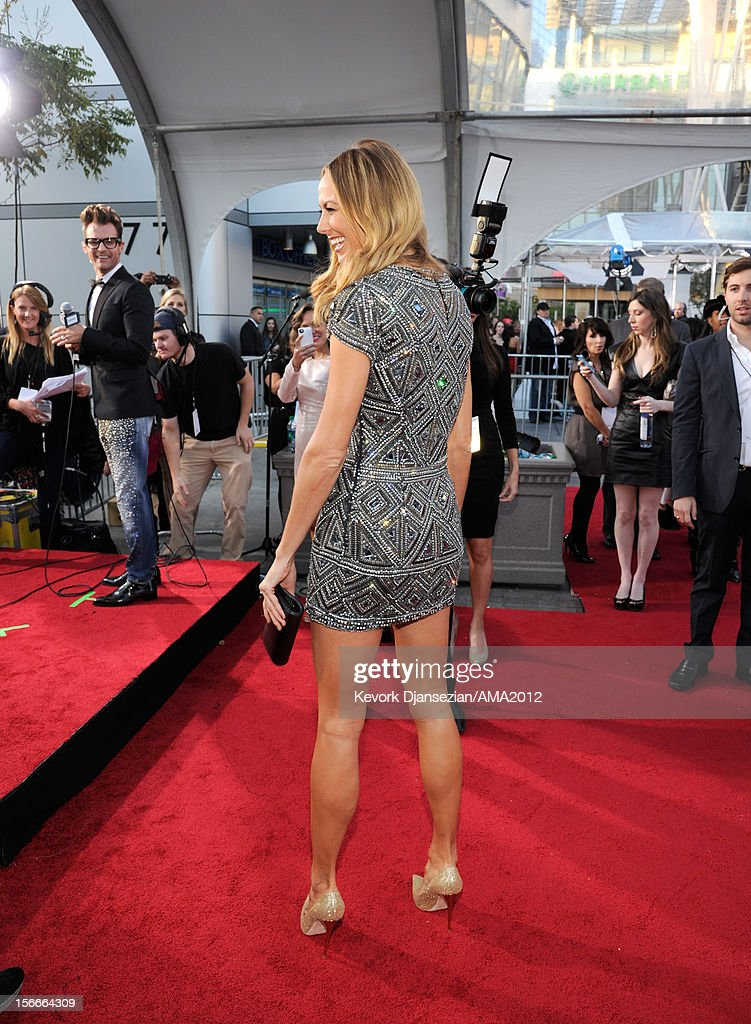Actress Stacy Keibler attends the 40th American Music Awards held at Nokia Theatre LA Live on November 18 2012 in Los Angeles California