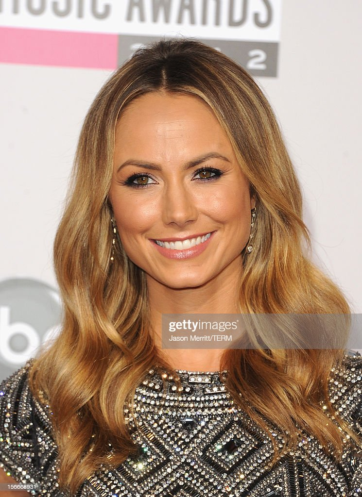 Actress Stacy Keibler attends the 40th American Music Awards held at Nokia Theatre L.A. Live on November 18, 2012 in Los Angeles, California.