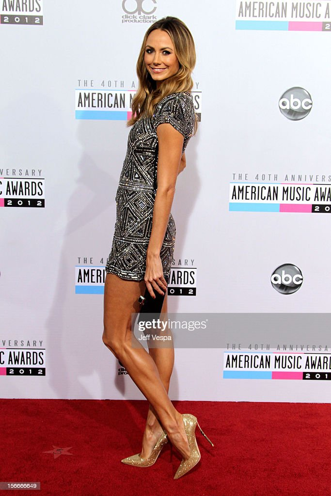 Actress Stacy Keibler attends the 40th Anniversary American Music Awards held at Nokia Theatre L.A. Live on November 18, 2012 in Los Angeles, California.