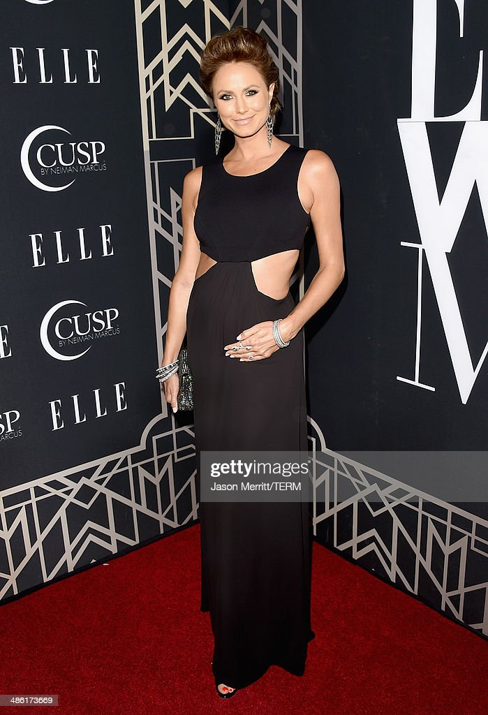 Actress <a gi-track='captionPersonalityLinkClicked' href=/galleries/search?phrase=Stacy+Keibler&family=editorial&specificpeople=3031844 ng-click='$event.stopPropagation()'>Stacy Keibler</a> attends the 5th Annual ELLE Women in Music Celebration presented by CUSP by Neiman Marcus. Hosted by ELLE Editor-in-Chief Robbie Myers with performances by Sarah McLachlan, Angel Haze and Betty Who, with special DJ set by Rumer Willis at Avalon on April 22, 2014 in Hollywood, California.