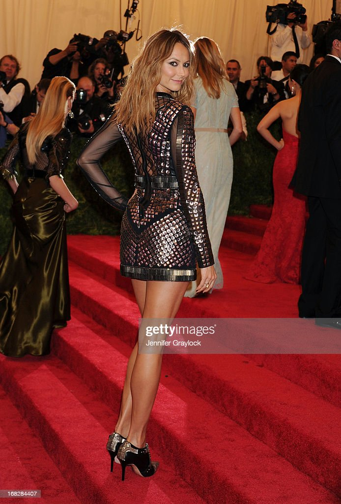 Actress Stacy Keibler attends the Costume Institute Gala for the 'PUNK: Chaos to Couture' exhibition at the Metropolitan Museum of Art on May 6, 2013 in New York City.