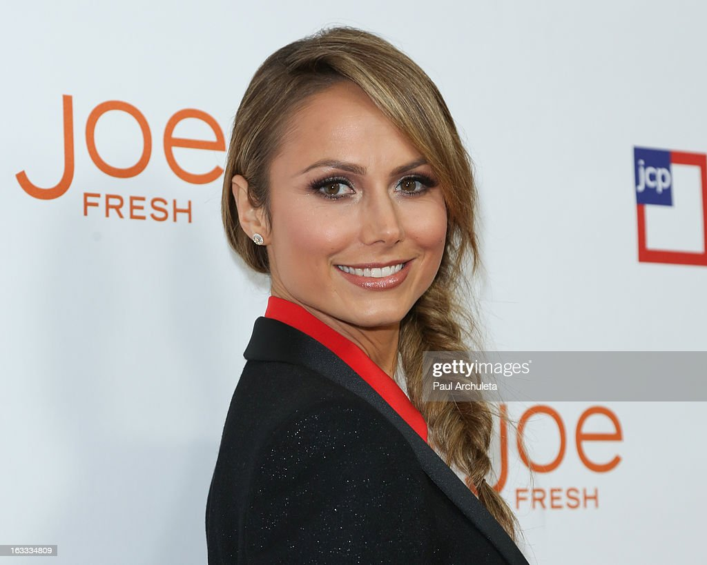 Actress Stacy Keibler attends the JCPenney 'Joe Fresh' launch party at the Joe Fresh at jcp Pop Up store on March 7, 2013 in Los Angeles, California.