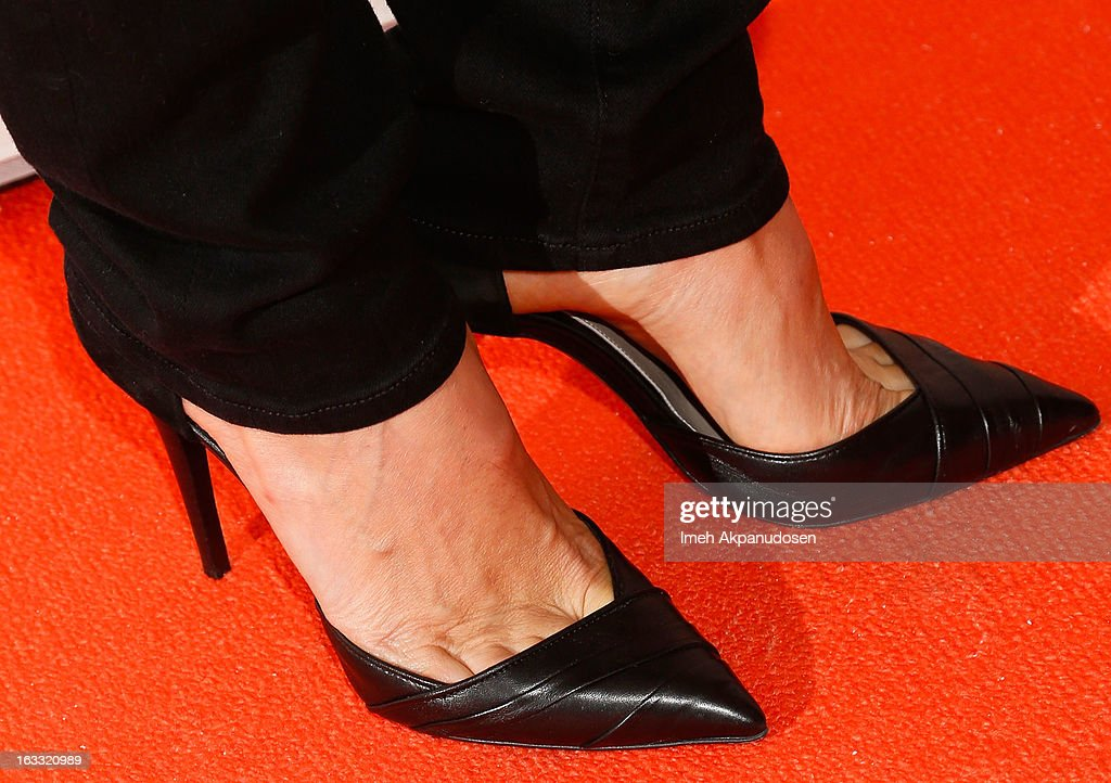 Actress Stacy Keibler (shoe detail) attends the Joe Fresh at jcp Pop Up event on March 7, 2013 in Los Angeles, California.