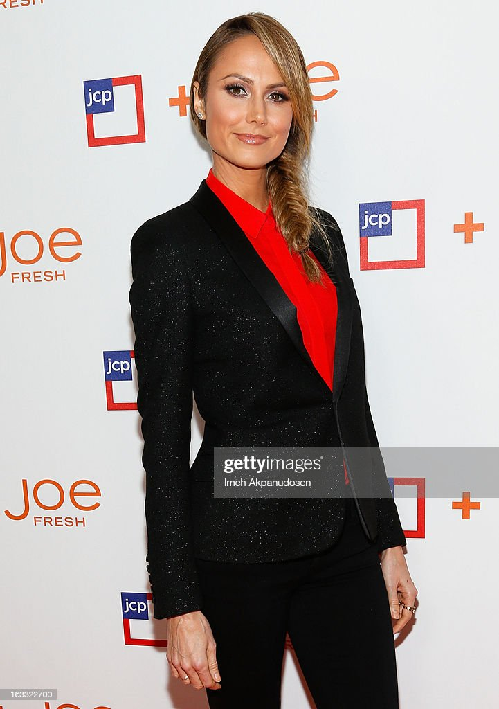Actress <a gi-track='captionPersonalityLinkClicked' href=/galleries/search?phrase=Stacy+Keibler&family=editorial&specificpeople=3031844 ng-click='$event.stopPropagation()'>Stacy Keibler</a> attends the Joe Fresh at jcp Pop Up event on March 7, 2013 in Los Angeles, California.