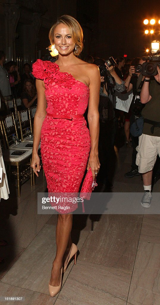 Actress Stacy Keibler attends the Marchesa show during Spring 2013 Mercedes-Benz Fashion Week at Grand Central Terminal on September 12, 2012 in New York City.