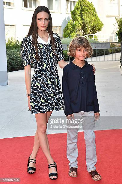Actress Stacy Martin and Tom Sweet attend a premiere for 'The Childhood Of A Leader' during the 72nd Venice Film Festival on September 5 2015 in...