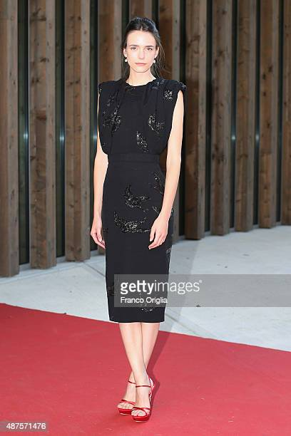 Actress Stacy Martin attends a premiere for 'Taj Mahal' during the 72nd Venice Film Festival at Sala Darsena on September 10 2015 in Venice Italy