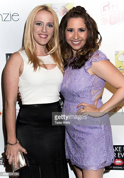 Actress Stacy Snyder and actress/Liv Out Loud creator Ashley Gianni pose for portrait at Premiere Party For 'Liv Out Loud' at Akbar on September 14...