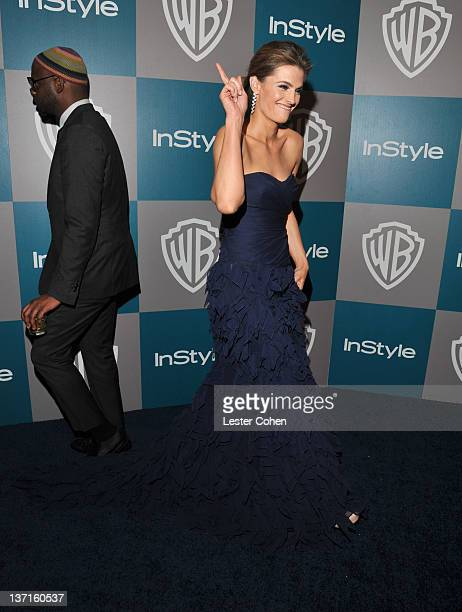 Actress Stana Katic arrives at the 13th Annual Warner Bros and InStyle Golden Globe After Party held at The Beverly Hilton hotel on January 15 2012...