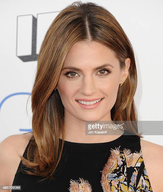 Actress Stana Katic arrives at the 2015 Film Independent Spirit Awards on February 21 2015 in Santa Monica California
