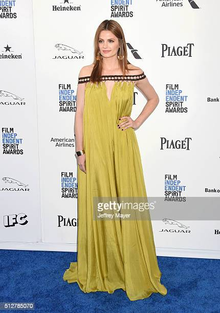 Actress Stana Katic arrives at the 2016 Film Independent Spirit Awards on February 27 2016 in Santa Monica California