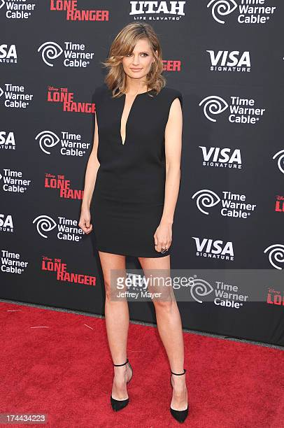 Actress Stana Katic arrives at 'The Lone Ranger' World Premiere at Disney's California Adventure on June 22 2013 in Anaheim California