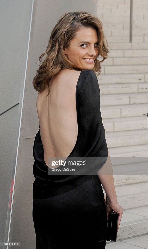 Actress <a gi-track='captionPersonalityLinkClicked' href=/galleries/search?phrase=Stana+Katic&family=editorial&specificpeople=2081035 ng-click='$event.stopPropagation()'>Stana Katic</a> arrives at The Los Angeles Philharmonic Opening Night Concert And Gala at Walt Disney Concert Hall on September 30, 2014 in Los Angeles, California.