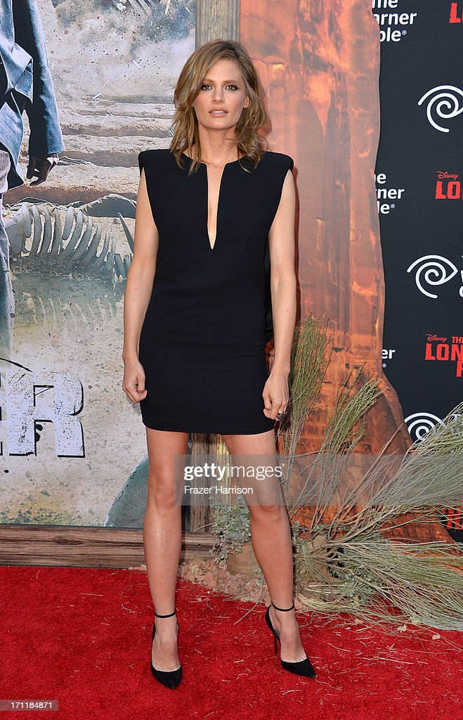 Actress <a gi-track='captionPersonalityLinkClicked' href=/galleries/search?phrase=Stana+Katic&family=editorial&specificpeople=2081035 ng-click='$event.stopPropagation()'>Stana Katic</a> arrives at the premiere of Walt Disney Pictures' 'The Lone Ranger' at Disney California Adventure Park on June 22, 2013 in Anaheim, California.