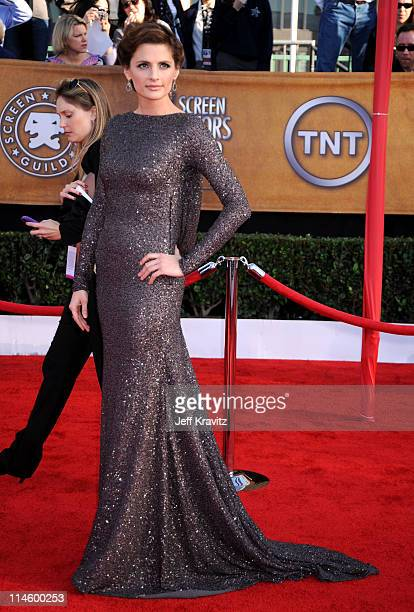 Actress Stana Katic arrives to the 16th Annual Screen Actors Guild Awards held at The Shrine Auditorium on January 23 2010 in Los Angeles California