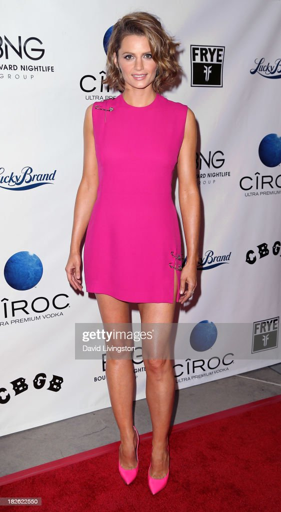 Actress <a gi-track='captionPersonalityLinkClicked' href=/galleries/search?phrase=Stana+Katic&family=editorial&specificpeople=2081035 ng-click='$event.stopPropagation()'>Stana Katic</a> attends a screening of Xlrator Media's 'CBGB' at ArcLight Cinemas on October 1, 2013 in Hollywood, California.
