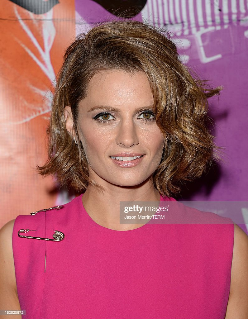 Actress Stana Katic attends a screening of Xlrator Media's 'CBGB' at ArcLight Cinemas on October 1, 2013 in Hollywood, California.