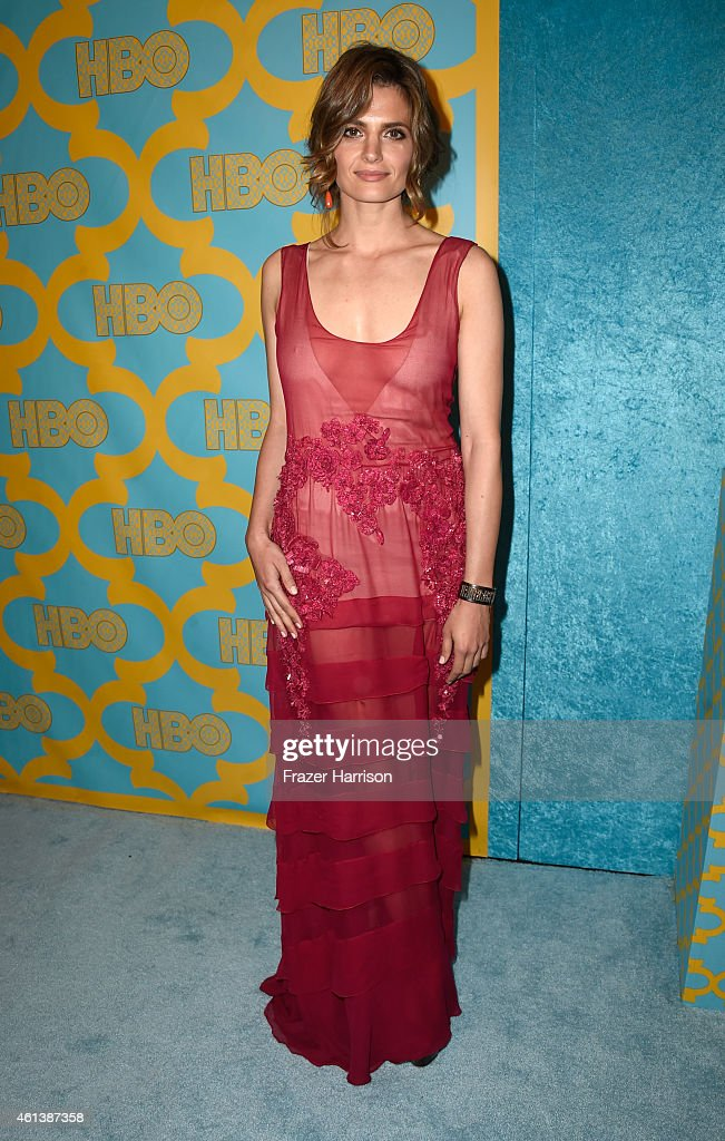 Actress <a gi-track='captionPersonalityLinkClicked' href=/galleries/search?phrase=Stana+Katic&family=editorial&specificpeople=2081035 ng-click='$event.stopPropagation()'>Stana Katic</a> attends HBO's Post 2015 Golden Globe Awards Party at Circa 55 Restaurant on January 11, 2015 in Los Angeles, California.
