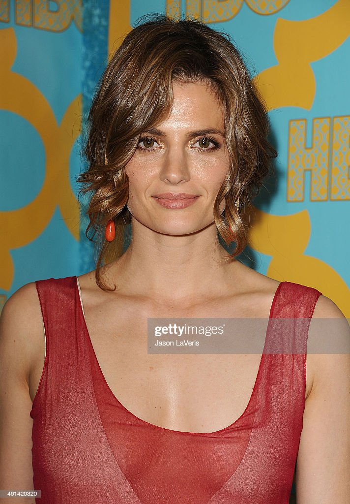Actress <a gi-track='captionPersonalityLinkClicked' href=/galleries/search?phrase=Stana+Katic&family=editorial&specificpeople=2081035 ng-click='$event.stopPropagation()'>Stana Katic</a> attends HBO's post Golden Globe Awards party at The Beverly Hilton Hotel on January 11, 2015 in Beverly Hills, California.