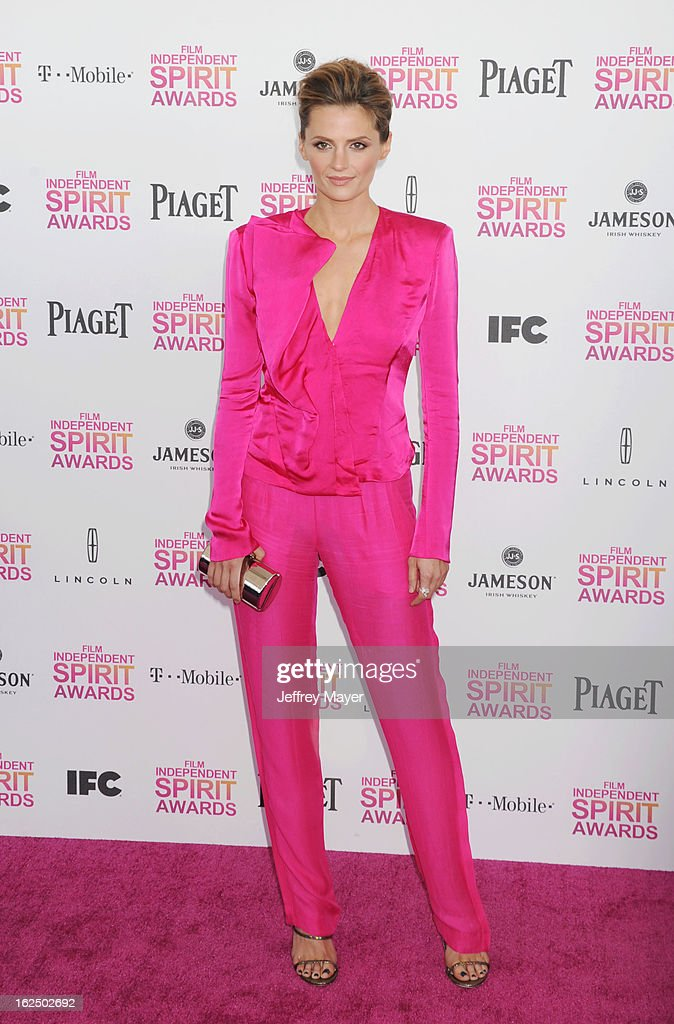 Actress Stana Katic attends the 2013 Film Independent Spirit Awards at Santa Monica Beach on February 23, 2013 in Santa Monica, California.