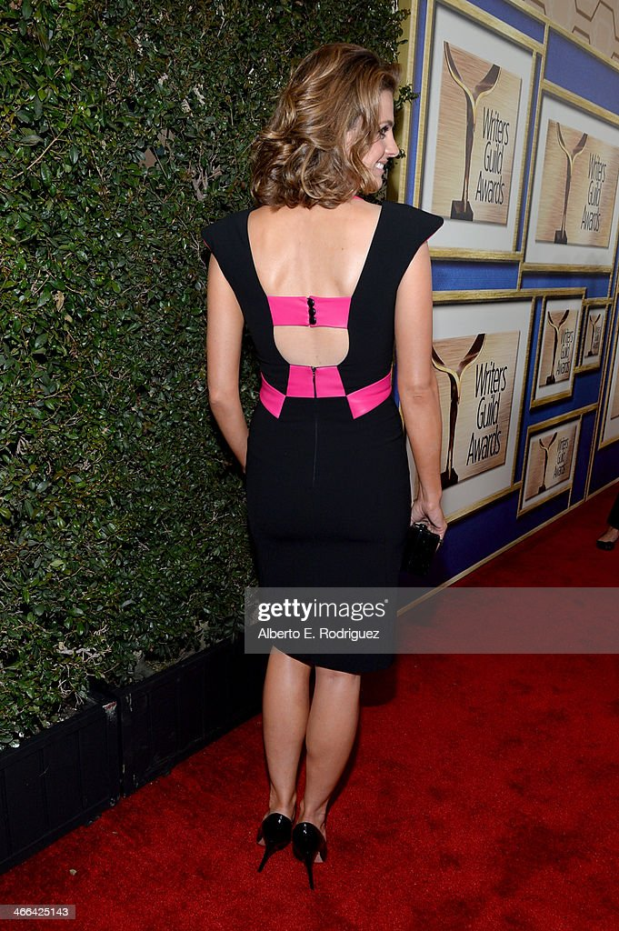 Actress Stana Katic attends the 2014 Writers Guild Awards L.A. Ceremony at J.W. Marriott at L.A. Live on February 1, 2014 in Los Angeles, California.