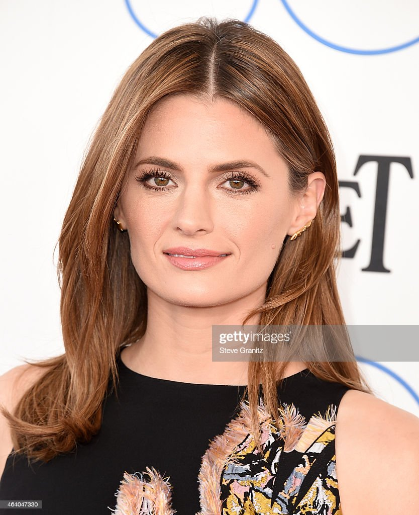 Actress <a gi-track='captionPersonalityLinkClicked' href=/galleries/search?phrase=Stana+Katic&family=editorial&specificpeople=2081035 ng-click='$event.stopPropagation()'>Stana Katic</a> attends the 2015 Film Independent Spirit Awards at Santa Monica Beach on February 21, 2015 in Santa Monica, California.